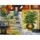 y00384 油畫 抽象(P1-2-008)