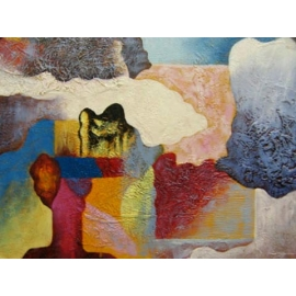 y00387 油畫 抽象(P1-2-011)