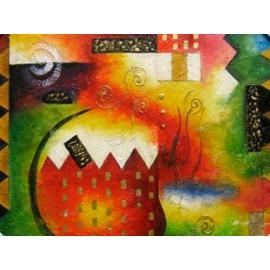 y00389 油畫 抽象(P1-2-019)