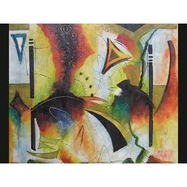 y00390 油畫 抽象(P1-2-020)