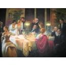 上流晚宴(P1-2-029) (維多利亞風格)-y01084 油畫