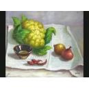 蔬菜(P1-2-033)-y000047 油畫