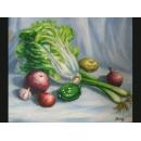 蔬菜(P1-2-034)-y000048 油畫
