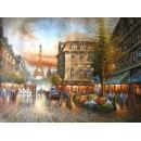 y00010畫作系列-油畫 巴黎街景(P1-2-039)