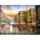 y00012畫作系列-油畫 巴黎街景(P1-2-041)