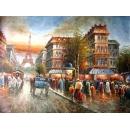y00013畫作系列-油畫 巴黎街景(P1-2-042)