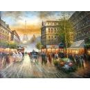 y00014畫作系列-油畫 巴黎街景(P1-2-043)