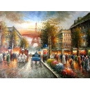 y00015畫作系列-油畫 巴黎街景(P1-2-044)
