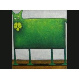 y00082 油畫 貓咪(P1-2-048)