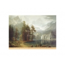 y09436 複製畫 Sierra Nevada(B820)Bierstadt 貝爾斯特-內華達州山區