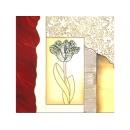 y01025 金箔版畫 藝術抽象花(L024-7)