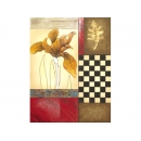 y01027 金箔版畫 藝術抽象花(BE159-2432)