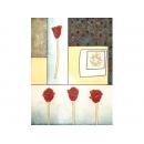 y01029 金箔版畫 抽象美的花(BE160-2432)