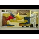 y01037 金箔版畫 和樂融融抽象版畫BE-007