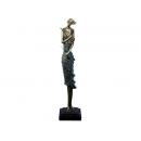 No.002波麗仿銅-風中提琴女 y13121 立體雕塑.擺飾 立體雕塑系列-人物雕塑系列 (已售完)