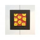 紅底金玫瑰 y13007 玻璃壁飾系列