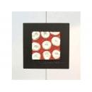 紅底銀玫瑰 y13005 玻璃壁飾系列