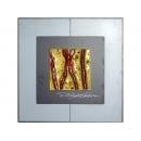 金底紅樹根 y12995玻璃壁飾系列