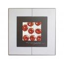 銀底紅玫瑰 y12991 玻璃壁飾系列