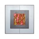 紅底金樹根 y12989 玻璃壁飾系列