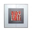 紅底銀樹根 y12988 玻璃壁飾系列