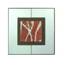 紅底銀樹根 y12984 玻璃壁飾系列