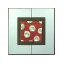 紅底銀玫瑰 y12982 玻璃壁飾系列