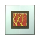 紅底金樹根 y12981 玻璃壁飾系列