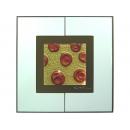 金底紅玫瑰 y12980 玻璃壁飾系列