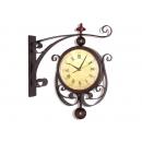 路燈造型雙面時鐘 y12427 時鐘.溫度計.鏡子 溫度計.壁掛鐘 路燈造型雙面時鐘---已停產無庫存