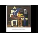 y02043 複製畫 Picasso 畢卡索-三位音樂師(P650)
