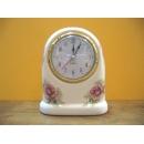 粉紅玫瑰花桌鐘 y12706 CL.11 時鐘.溫度計.鏡子 桌鐘