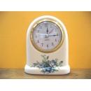 藍色玫瑰花桌鐘 y12707 CL.10 時鐘.溫度計.鏡子 桌鐘