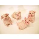 可愛小豬擺飾(一組四入)y13166-.立體雕塑.擺飾-立體童趣擺飾系列