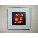 紅底金玫瑰 y12955 玻璃壁飾系列