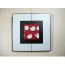 紅底銀玫瑰 y12954 玻璃壁飾系列