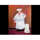 廚師油畫-y01087 油畫