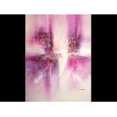 y00397 油畫 紫色抽象畫