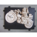 聖誕公公時鐘 y012709 時鐘.溫度計.鏡子 溫度計.壁掛鐘