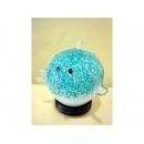 藝術玻璃-水藍河豚燈 (黑紫河豚) y12355 水晶飾品系列