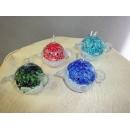 藝術玻璃-小河豚 y12357 水晶飾品系列 (綠色 藍色 紅色 水青色)A9