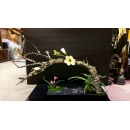 長黑盆枯枝造型花藝-y15358-花藝設計.花材果樹