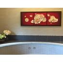 立體浮雕版畫-美滿芬芳-( y15473 空間佈置設計 -居家空間案例 - 浮雕版畫系列)