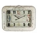 長方鐵掛鐘-y15422-( 時鐘.溫度計-鏡子-溫度計.壁掛鐘)