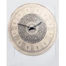 白色復古花紋羅馬英文大圓時鐘(y14619 時鐘.溫度計.鏡子-溫度計.壁掛鐘)