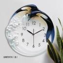 溫暖的時刻(藍)-y15437-( 時鐘.溫度計-鏡子-溫度計.壁掛鐘)