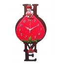 草莓男孩掛鐘 y13489 時鐘.溫度計.鏡子 溫度計.壁掛鐘 莓男孩掛鐘(另有女孩款)