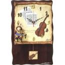 y13490 時鐘-提琴樂譜掛鐘