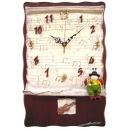 美妙音符掛鐘 y13491 時鐘.溫度計.鏡子 溫度計.壁掛鐘