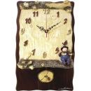 森林原木掛鐘 y13492 時鐘.溫度計.鏡子 溫度計.壁掛鐘